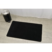 Evideco Non Skid Rectangular Bath Mat; Black