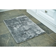 Persian-rugs 3 Piece Bath Rug Set; Gray