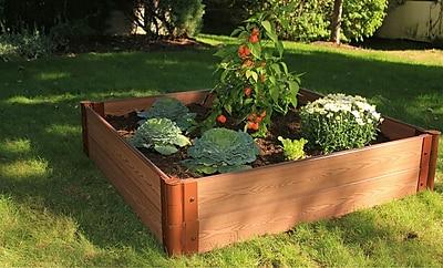 Frame It All 4 ft. x 4 ft. Composite Raised Garden Planter; 12'' H x 48'' W x 48'' D