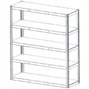 Tennsco Die Rack Shelving Units; 96'' x 36'' x 96''