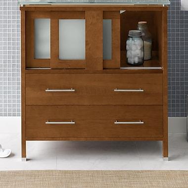 Ronbow Minerva 31'' Bathroom Vanity Base Cabinet in Cinnamon