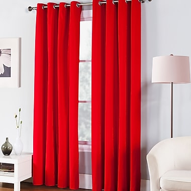 Fiesta Fiesta Single Curtain Panel; Scarlet