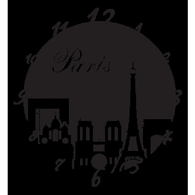Style and Apply Paris Wall Clock Wall Decal; Copper