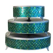 Urban Designs Mosaic Round Cake Stand 3 Piece Set