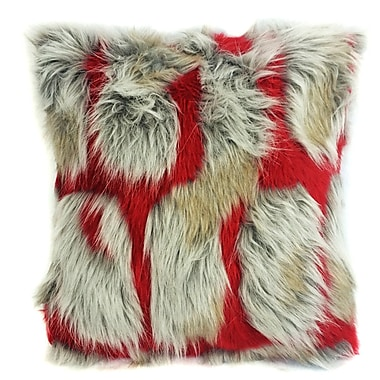 ArtOFabric Hybrid Brick Cushion Faux Fur Throw Pillow (Set of 2)