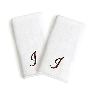 Linum Home Textiles Soft Twist Monogrammed Hand Towel (Set of 2); Letter: I
