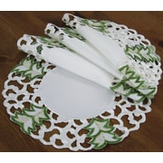 Xia Home Fashions Tannenbaum Embroidered Cutwork Holiday Placemat (Set of 4); 16'' W x 16'' L