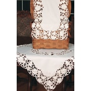Xia Home Fashions Daisy Lace Embroidered Cutwork Table Runner