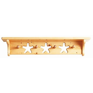 Little Colorado Star Coat Rack; Natural Lacquer