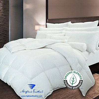 Highland Feather Cambridge Down Comforter; Queen