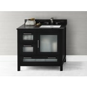 Ronbow Athena 36'' Bathroom Vanity Base Cabinet in Black - Door on Right