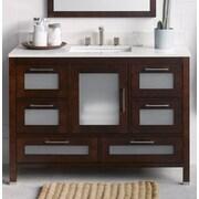 Ronbow Athena 48'' Bathroom Vanity Base Cabinet in Dark Cherry