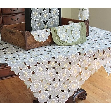 Xia Home Fashions Dainty Flowers Table Topper