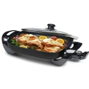 Elite by Maxi-Matic Gourmet 15'' x 12'' Electric Skillet w/ Glass Lid; Black