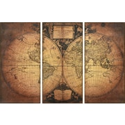 Empire Art Direct ''World 1752'' 3 Piece Graphic Art Set on Canvas
