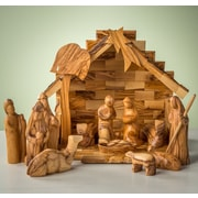 EarthwoodLLC Olive Wood Modern Nativity Figurine Set