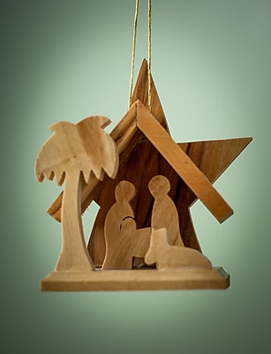 EarthwoodLLC Olive Wood Small Star Grotto Ornament
