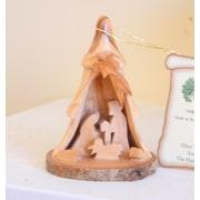 EarthwoodLLC Olive Wood 3D Tree Ornament