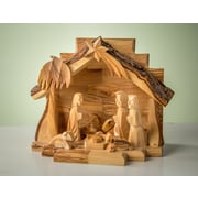 EarthwoodLLC Olive Wood Grotto w/ Carved Figures