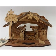 EarthwoodLLC Olive Wood Grotto w/ Laser Cut Figures