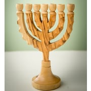 EarthwoodLLC Olive Menorah Wood Candelabra