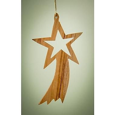 EarthwoodLLC Olive Wood Plain Shooting Star Ornament