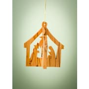EarthwoodLLC Olive Wood 3D Stable Ornament