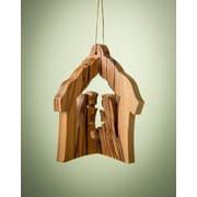 EarthwoodLLC Olive Wood 3D House Ornament