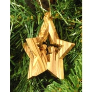 EarthwoodLLC Olive Wood 3D Star Ornament