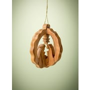 EarthwoodLLC Olive Wood 3D Round Stable Ornament