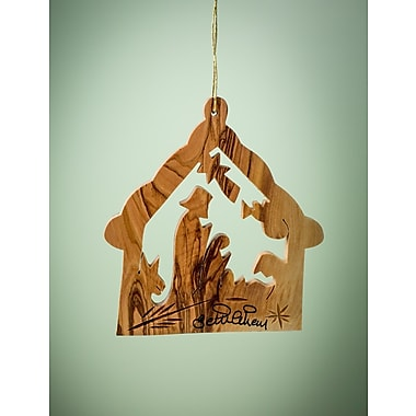 EarthwoodLLC Olive Wood Stable Ornament