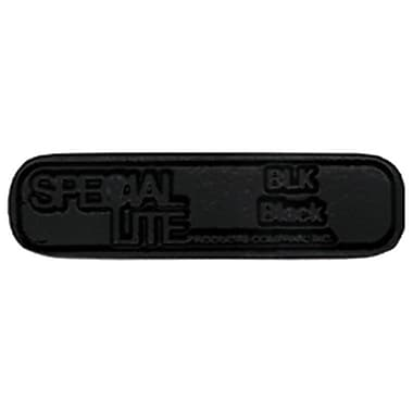 Special Lite Products 3-Line Wall Address Plaque; Black