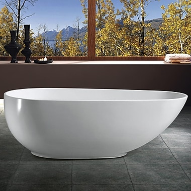 AKDY 66.93'' x 33.46'' Soaking Bathtub