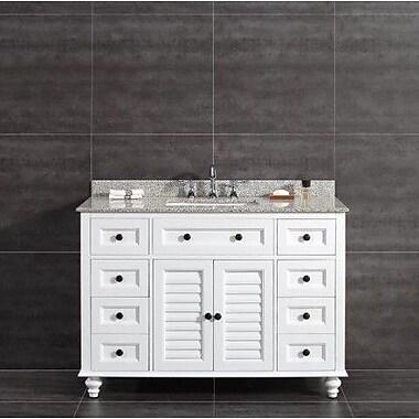 Ove Decors Heather 48'' Single Tiger Granite Top and Rectangular Basin Vanity Set