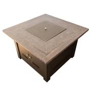 AZ Patio Heaters Faux Stone Propane Fire Pit Table