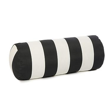 HRH Designs Bolster Pillow; Black