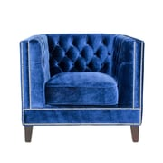 Pasargad Victoria Arm Chair; Royal Blue