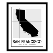 ReplayPhotos 'San Francisco Map' Framed Graphic Art