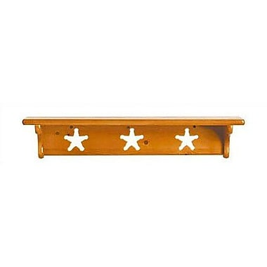 Little Colorado Wall Shelf without Pegs- Star; Natural Lacquer