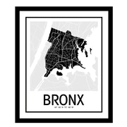 ReplayPhotos 'Bronx Map' Framed Graphic Art