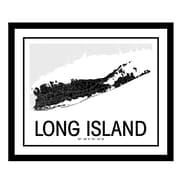 ReplayPhotos 'Long Island Map' Framed Graphic Art