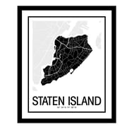 ReplayPhotos 'Staten Island Map' Framed Graphic Art
