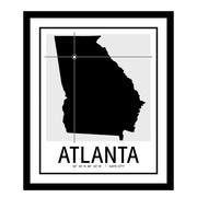 ReplayPhotos 'Atlanta Map' Framed Graphic Art