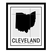 ReplayPhotos 'Cleveland Map' Framed Graphic Art