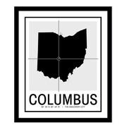 ReplayPhotos 'Columbus Map' Framed Graphic Art