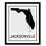 ReplayPhotos 'Jacksonville Map' Framed Graphic Art