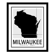 ReplayPhotos 'Milwaukee Map' Framed Graphic Art