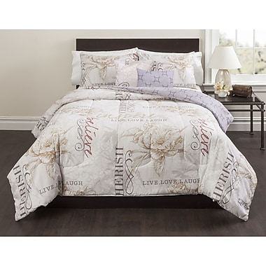 Casa Magnolia 5 Piece Comforter Set; Full