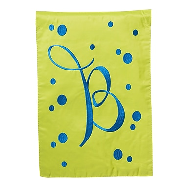 Evergreen Enterprises, Inc Polka Dot Initial Garden Flag; B