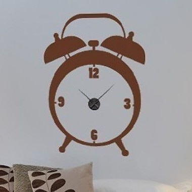 Style and Apply Alarm Wall Clock Wall Decal; Dark Green